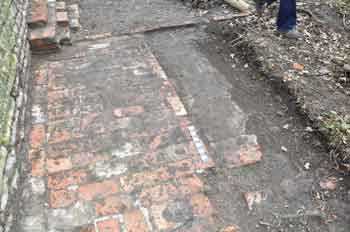 Brick floor outside Horizontal Engine House