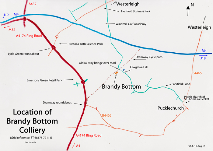 Brandy Bottom Location Map