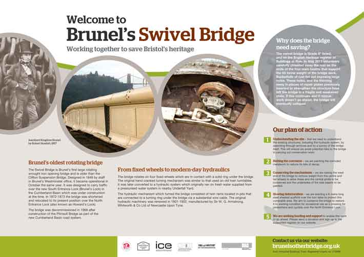 Brunel's Swing Bridge Display Board 1