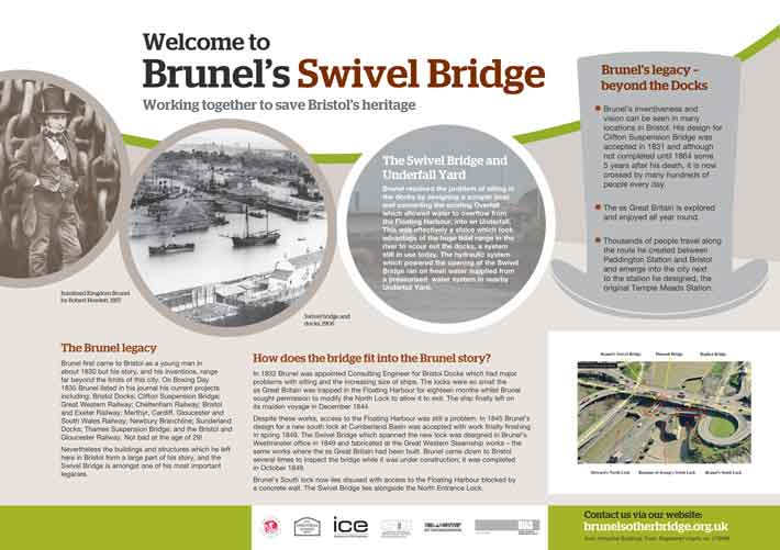 Brunel's Swing Bridge Display Board 2
